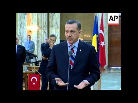 Turkish PM meets counterpart Tariceanu