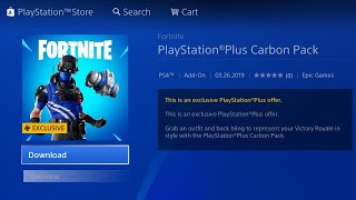 HOW TO GET THE NEW FORTNITE PS PLUS CARBON PACK FREE ON PS4/XBOX/PC! PS PLUS CARBON COMMANDO PACK