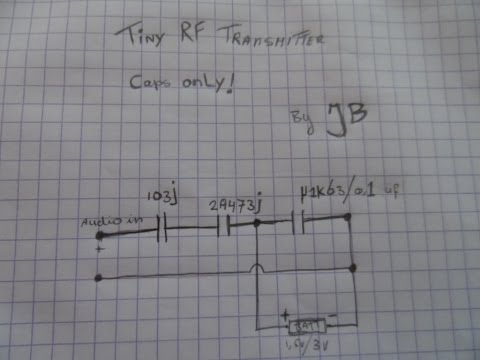 Simple Radio Transmitter Caps Only! No Transistor! Capsmitter