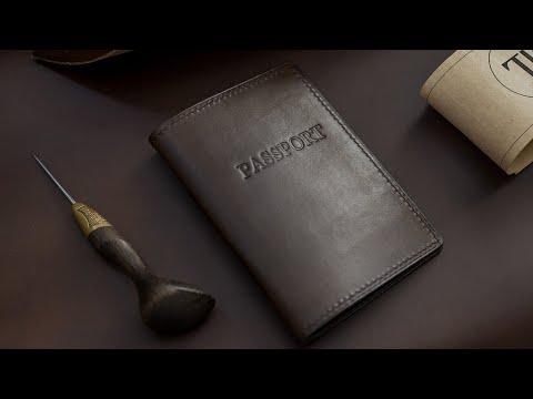Необычная обложка на паспорт из кожи своими руками / Handmade Leather Passport Cover