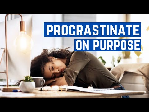 Procrastinate On Purpose Book Summary |  how to stop procrastinating | productivity- procrastination