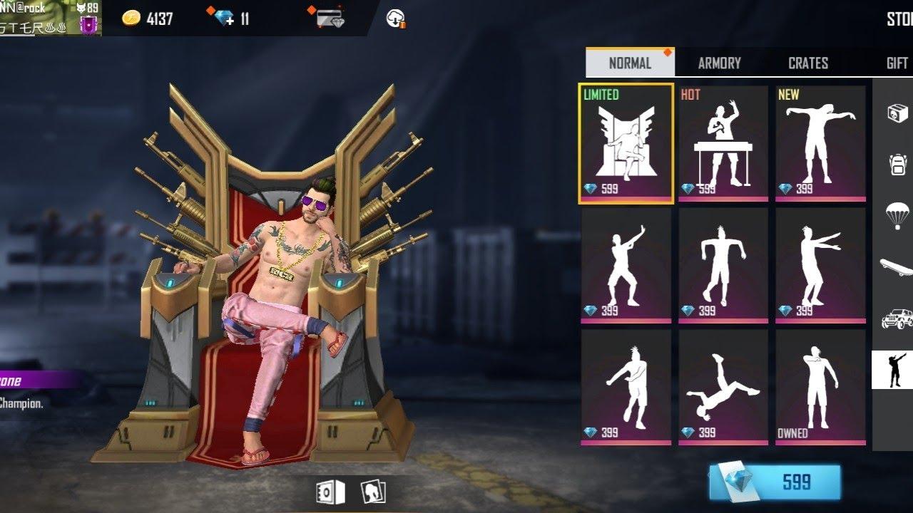 FFWC Throne Emote in Free Fire