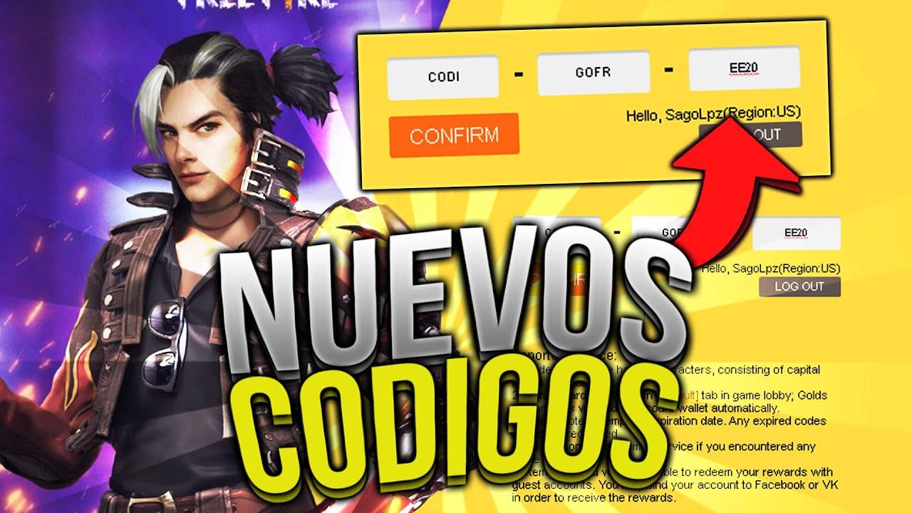 🎁 NUEVO CODIGO PARA FREE FIRE HOY (19 DE JULIO DEL 2020) 🎁 RÁPIDO CODIGO  FREEFIRE OFICIAL | ColdFire - YouTube