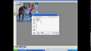 Tutorial - Crop images using Paint (Windows XP version)