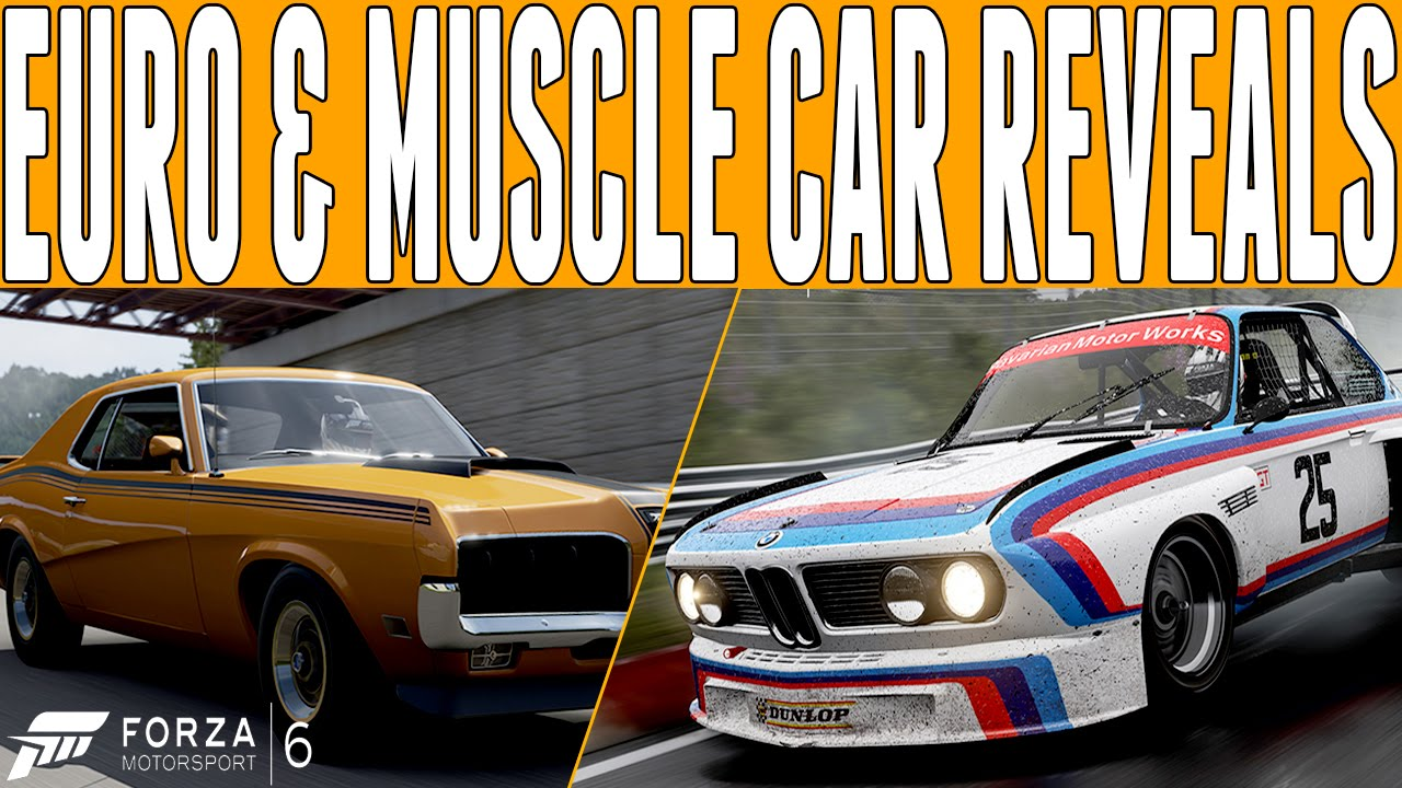 Forza Euro Cars Muscle Cars Revealed Bmw Cougar