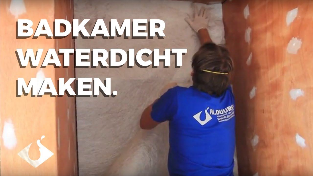 Badkamer waterdicht maken met Polyester en Glasmat. - YouTube