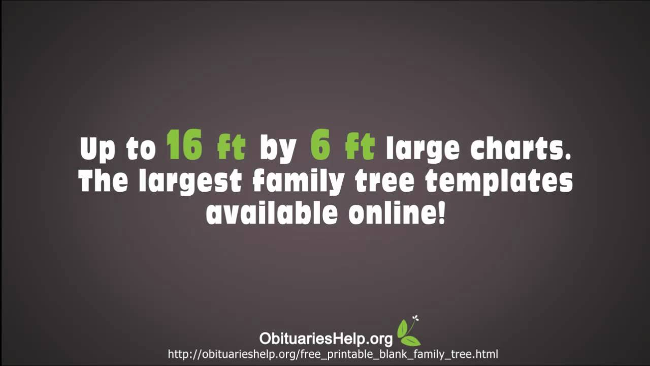 Family Tree Templates - Download Over 20 Free Family Tree T - YouTube