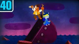 Волшебный фонарь. Островок погибших кораблей. Школьная литература в мультфильмах. Серия 40