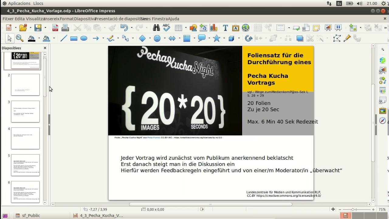Libre Office Impress Pecha Kucha - YouTube