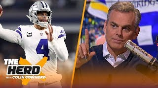 Colin Cowherd believes Kirk Cousins' failures increase Dak Prescott's value | NFL | THE HERD