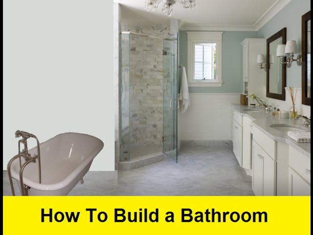how to build a bathroom - youtube