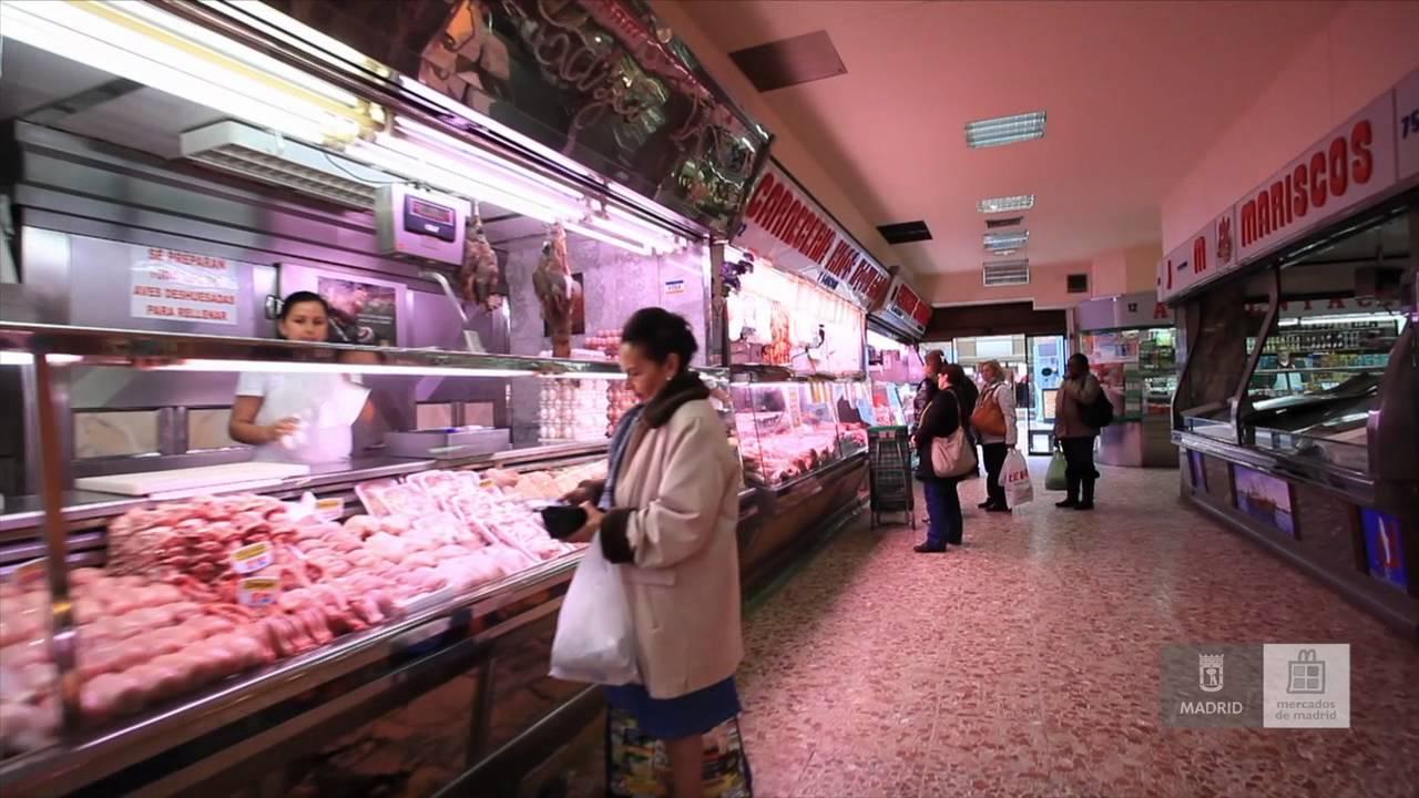 Mercados de madrid mercado de los mostenses youtube - Carniceria en madrid ...