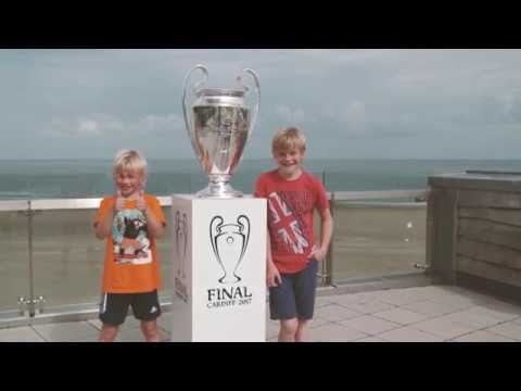 UEFA Champions League Trophy on display in Colwyn Bay