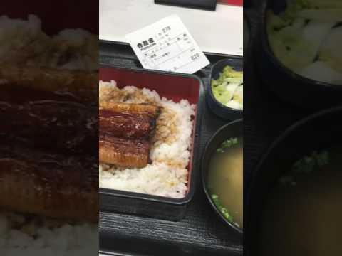 Eel with Rice at Yoshinoya, Haneda Japan