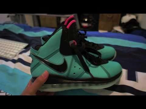 Nike Air Max LeBron VIII Pre Heat - South Beach - Miami Vice