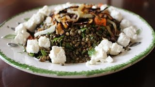 Greek Style French Lentil Salad
