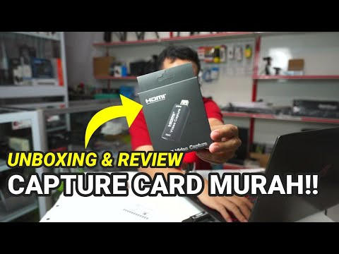 Unboxing dan Review Hasil Capture Card HDMI USB 2.0 | Capture Card HDMI Murah Live Streaming
