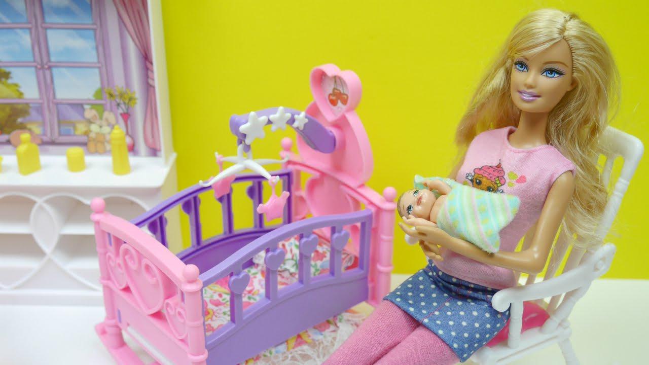 ألعاب باربي غرفة البيبي بنات Barbie Nursery Baby Doll Set