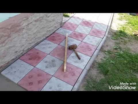 Отмостка к дому ,тротуарной плиткой