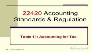 Lecture 11 - Accounting for Income Tax
