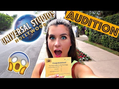My Universal Studios Audition Experience