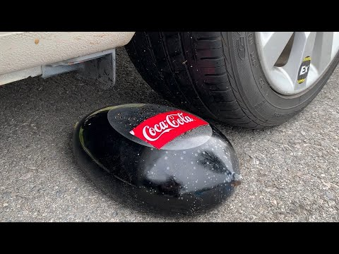 Experiment Car vs Coca Cola in Condom | Crushing crunchy & soft things by car | Test Ex