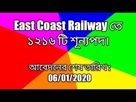 East Coast Railway তে ১২১৬টি শূন্যপদ। *Exclusive*