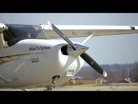 Kent State Aeronautics Reveals Nikki, the Top Hawk Cessna