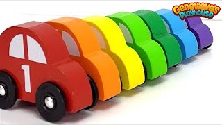 Kids, let's learn Colors, Counting and Vehicle names with Colorful Toy Cars!