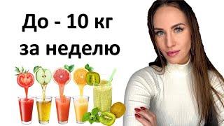 постер к видео Как похудеть до 10 кг за неделю. Очищение организма. How to lose weight in a week