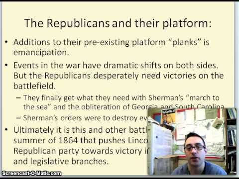 The Election of 1864 Screencast