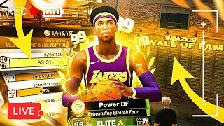 HITTING 99 OVERALL LIVE W/ GRINDING DF! BEST 99 BUILD & JUMPSHOT NBA 2K19