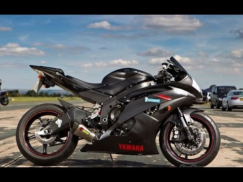 exhaust sound yamaha r6 1 akrapovic leovince m4 two. Black Bedroom Furniture Sets. Home Design Ideas