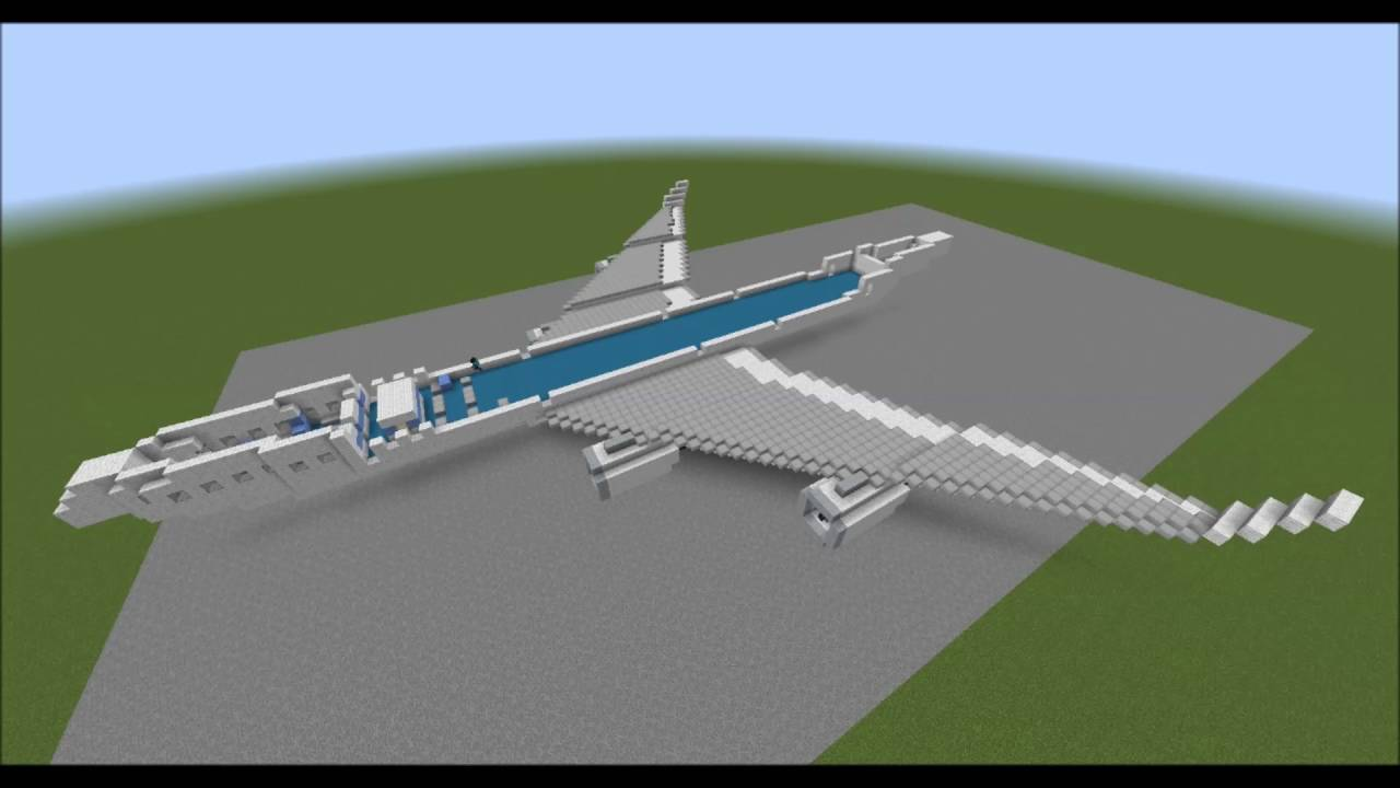 Minecraft boeing 747-400 (queen of the skies) youtube.