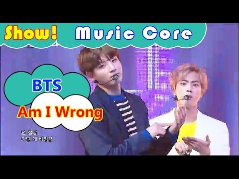 [HOT] BTS - Am I Wrong, 방탄소년단 - Am I Wrong Show Music core 20161029