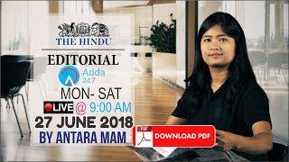 THE HINDU EDITORIAL ANALYSIS:27th JUNE | UPSC, RRB, SBI CLERK/IBPS, SSC