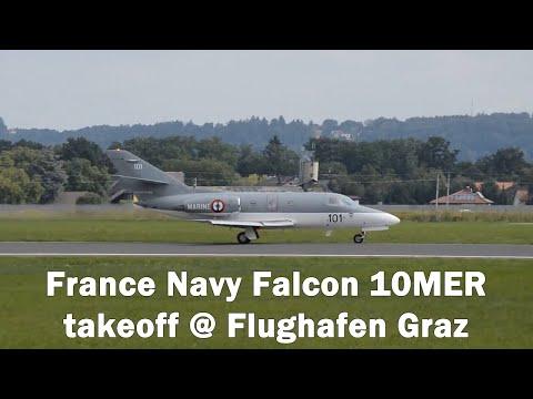 France Navy Falcon 10MER takeoff @ Flughafen Graz