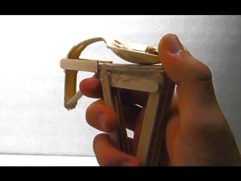 How to make a popsicle stick gun youtube for Cool things made out of popsicle sticks
