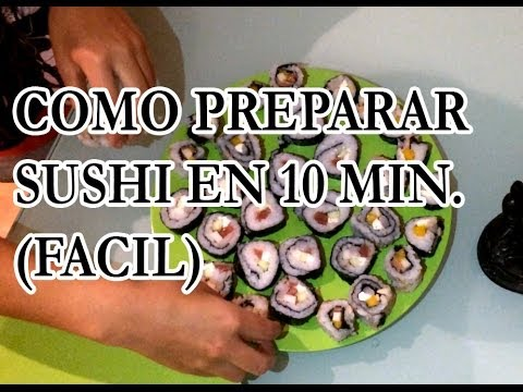C mo preparar sushi casero f cil paso a paso incluye for Como hacer arroz para sushi