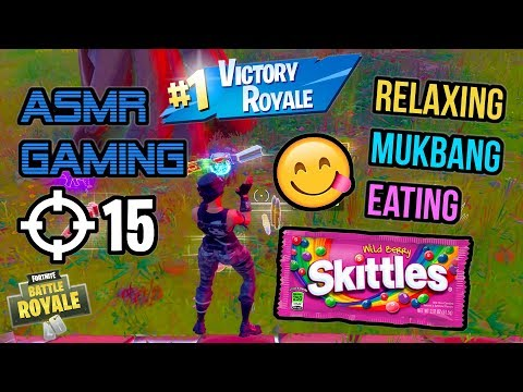 ASMR Gaming 😋 Fortnite Wild Berry Skittles Mukbang Eating Commentary 먹방 🎮🎧 Relaxing Whispering 😴💤