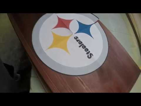 DIY Steelers Ice chest stand