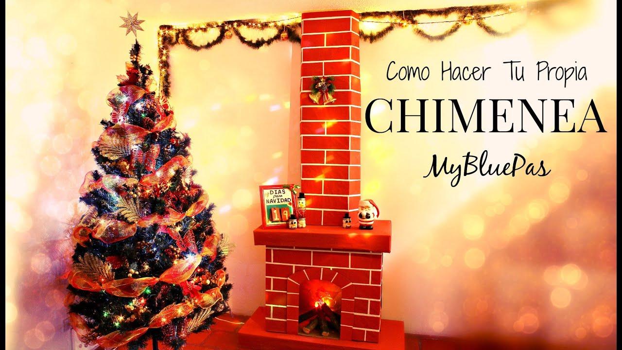 Como decorar para navidad como hacer una chimenea - Decoracion de unas para navidad ...