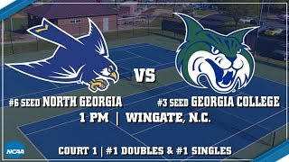 2018 NCAA D2 Tennis Tournament - SE Region 2 - #6 North Georgia vs #3 Georgia College (Court 1)