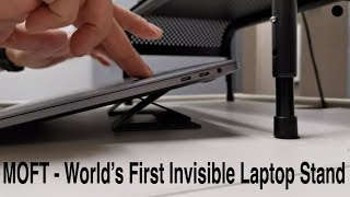 MOFT - World's First Invisible Laptop Stand kickstand Review - Available On #Kickstarter for $19