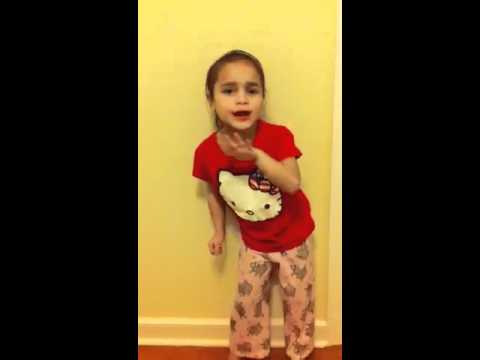 6 yr old singing here I am! From Victorious!