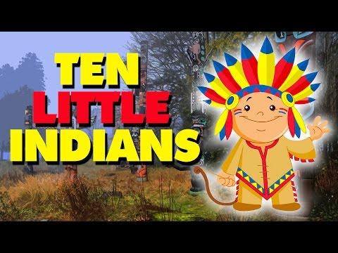 Ten Little Indians  English Nursery Rhymes With Lyrics