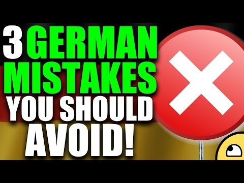 3 German Language Mistakes YOU SHOULD NOT MAKE! - German Lesson | VlogDave