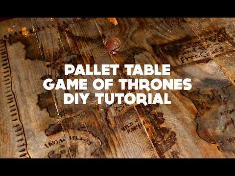 Pallet Table Game of thrones - DIY Tutorial - YouTube