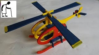 Let's assemble and paint a wooden helicopter kit