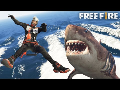 Free Fire เมื่อน้ำท่วมโลกฟีฟาย เจอฉลามยักษ์ ฉบับเกรียน EP4